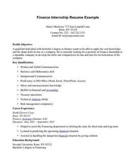 Sample Cover Letter For Finance Internship. training