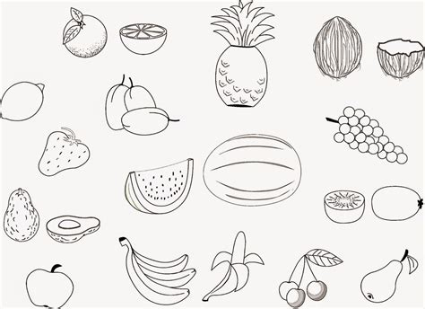 fruits printable coloring pages coloring home