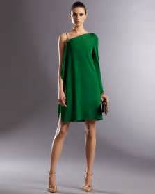 gucci asymmetric dress in green lyst