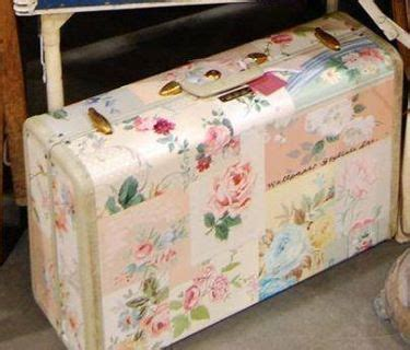 How To Decoupage A Suitcase - 17 best ideas about painted suitcase on