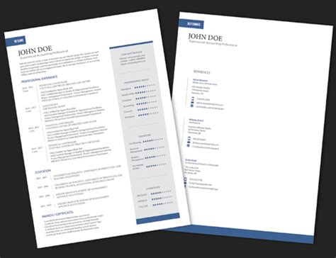 Indesign Credit Application Template 10 Best Free Resume Cv Templates In Ai Indesign Word Psd Formats