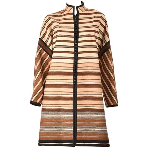 Kimono Shireen 1960 s shireen mckee haute couture striped wool coat for sale at 1stdibs