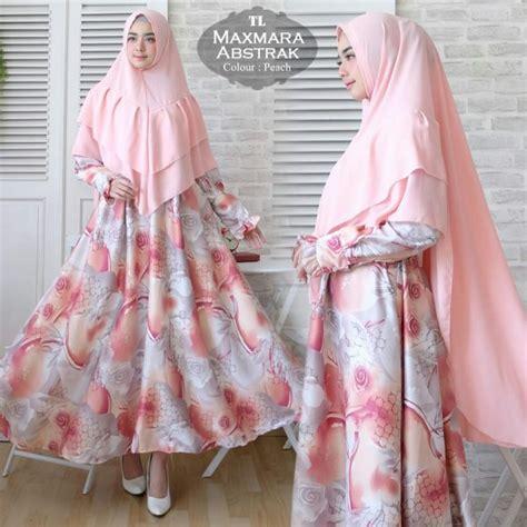 Abstrak Syari Khimar gamis syari maxmara abstrak motif bunga modelbusana muslim