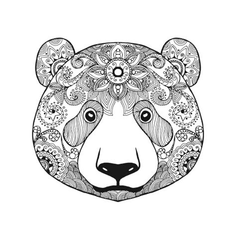bear mandala coloring pages advanced bear coloring page kidspressmagazine com