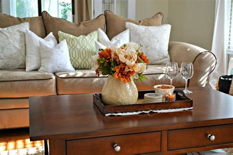 tray decor for fall coffee table livinator