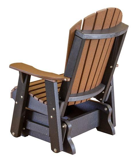 wood bench glider little cottage company heritage adirondack patio glider