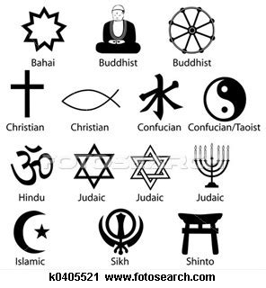 religious cultural and human gestures symbols