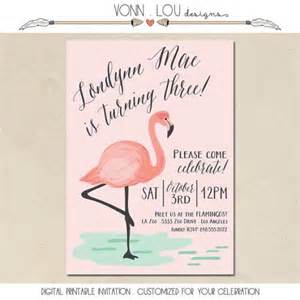 flamingo invitation flamingo pool baby shower bridal shower wedding