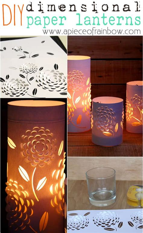 3d lantern template diy paper lanterns with beautiful 3d flowers design a