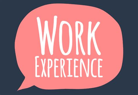 experience works work experience the cornerstone of your application
