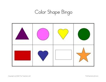printable bingo cards with shapes color shape bingo game colors game for kindergarten