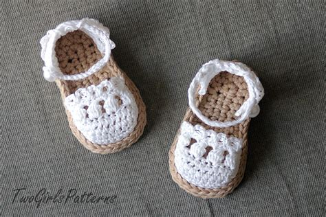 baby sandals crochet pattern crochet pattern for baby espadrille sandals crochet