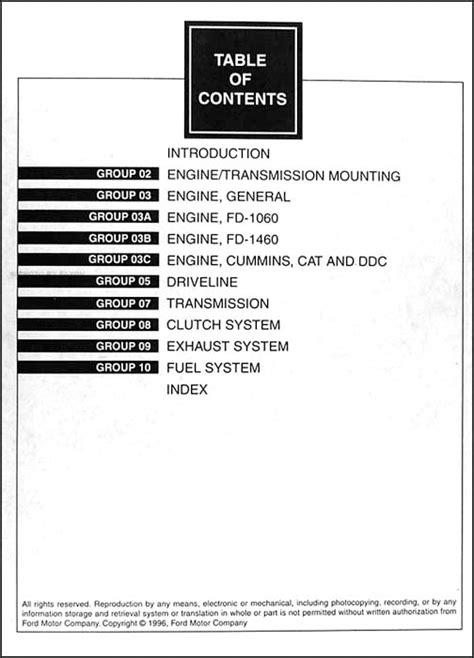 car engine repair manual 1997 ford f series electronic throttle control 1997 ford l series 7000 9000 repair shop manual original 2 volume set