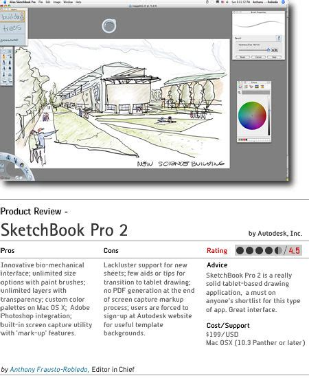 sketchbook pro review architosh feature product review sketchbook pro 2