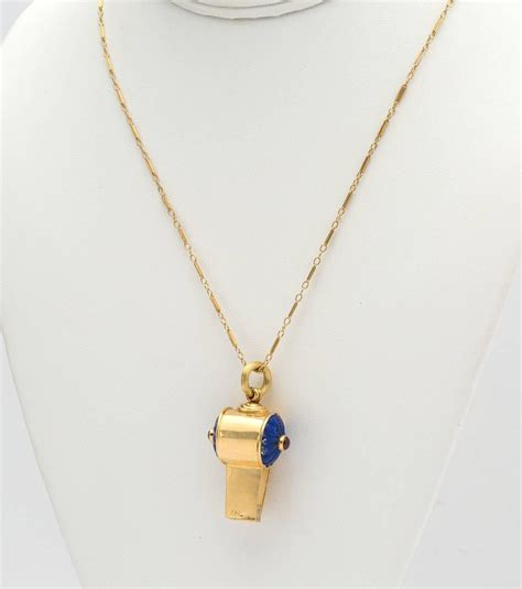 lapis ruby gold whistle pendant at 1stdibs