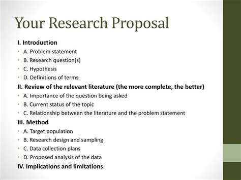 format of research proposal ppt components of a research proposal ppt