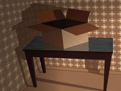 on table cardboard box on table by chadlinski on deviantart