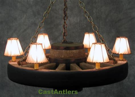 Rawhide Chandelier L Shades by Wagon Wheel Chandeliers 30 Quot Reproduction Cast Wagon