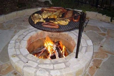 firepit with grill pit grill grate pit design ideas