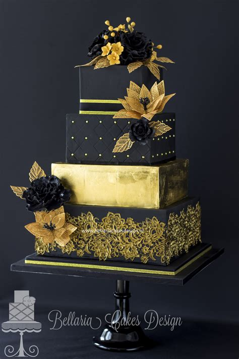 how to create a stylish black and gold 3d text effect in black and gold wedding cake cakecentral com