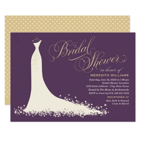 free sles of bridal shower invitations bridal shower invitation wedding gown zazzle