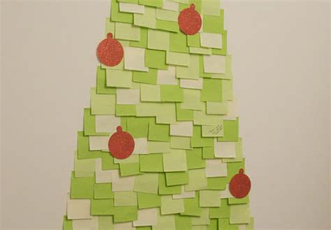post it christmas tree diy post it note tree a pair a spare