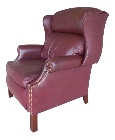 hancock moore leather recliner hancock moore leather chippendale style wing back