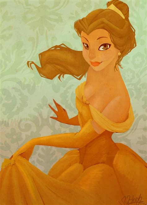 painting for princess stylized bell against a green background fan