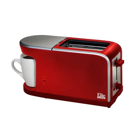 Coffee Maker Toaster Elite 2 Slice Red Coffee Maker And Toaster Ect 819 The