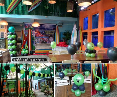 island themed decorations minecraft cebu balloons and supplies