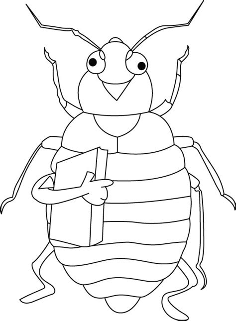 bed bug color mattress coloring bed bug page grig3 org