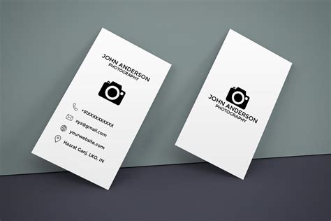 business card backside template vertival free photography vertical business card creativetacos