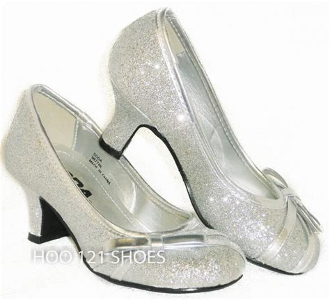 dress shoes with heels details about bejeweled sparkle glitter bow pageant flower