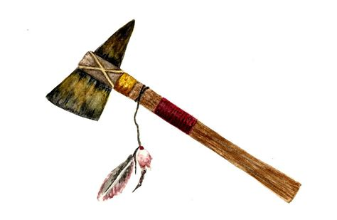 native american tomahawk painting  michael vigliotti