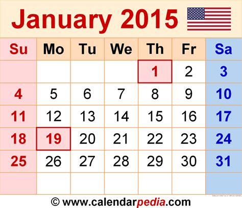 calendar layout january 2015 january 2015 calendars for word excel pdf