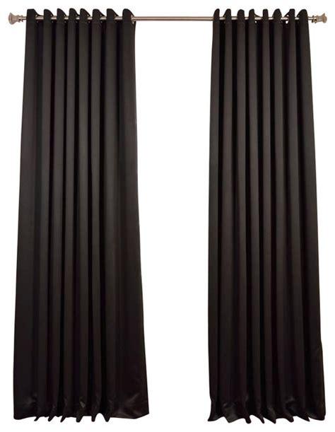 black grommet drapes jet black grommet doublewide blackout curtain