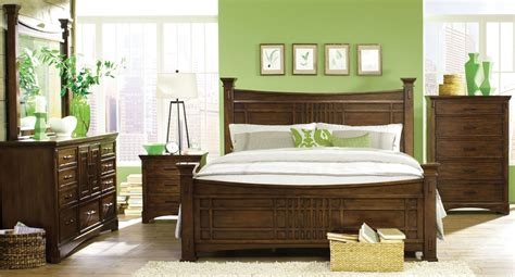 Artisan Loft Warm Medium Oak Column Bedroom Set From Medium Oak Bedroom Furniture