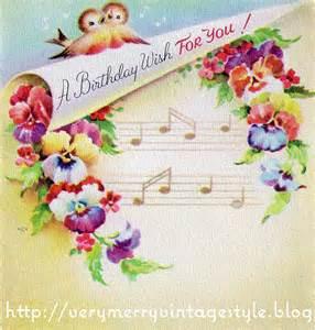 merry birthday card merry vintage syle vintage birthday cards