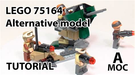 lego weapons tutorial tutorial a gun from lego 75164 moc star wars alternative