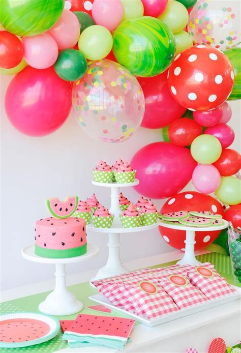 summer party themes this watermelon party is juicy delicious summer