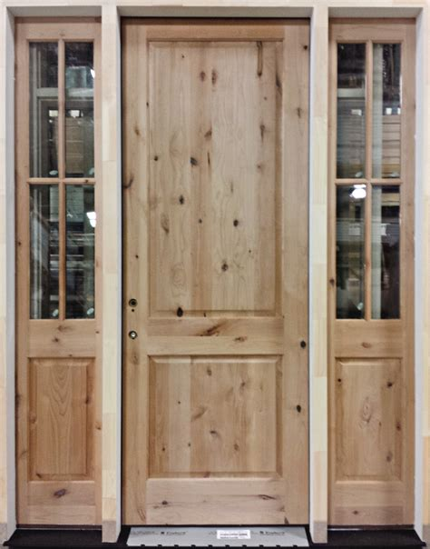 exterior 8 knotty alder wood door heritage millwork inc