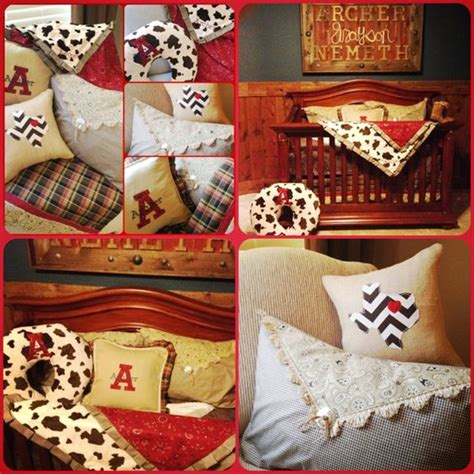 Plaid Western Baby Bedding And Cow Print On Pinterest Western Baby Bedding