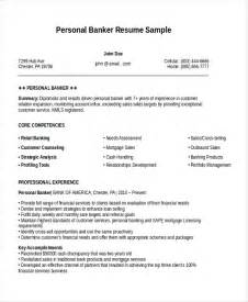 personal banker resume sles personal resume template 6 free word pdf document