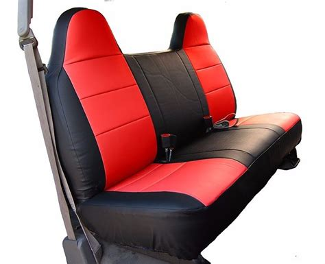 ford f150 bench seat ford f 150 black red iggee s leather custom fit bench front seat cover ebay