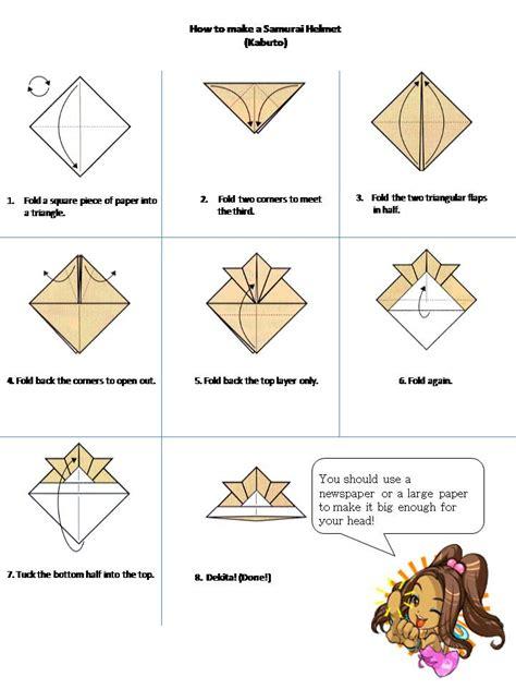 How To Make A Origami Helmet - nao hiro