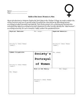 antigone worksheet antigone pre reading worksheets evaluating gender roles and theories of power