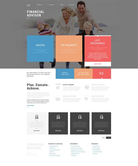 drupal themes review site financial advisor drupal template 52453