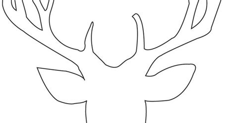stag outline silhouette pinterest outlines
