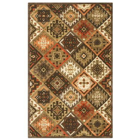 2 x 3 accent rugs rizzy home southwest multicolor 2 ft x 3 ft accent rug sowsu876100120203 the home depot