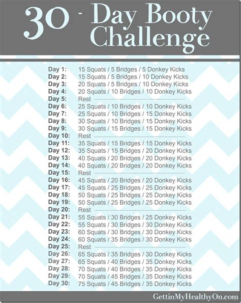 big booty meal plan 30 day booty challenge